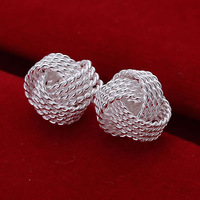 E013 Wholesale 925 silver earrings, 925 silver fashion jewelry, Tennis Earrings