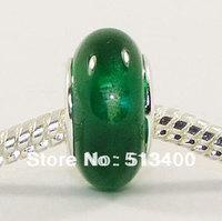 50pcs Free shipping!Vnistar Green European Cat Eye Beads For Snake Bracelets PGB198