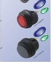 100pcs/lot R3-244 12V waterproof  Nylon black Rocker Switch  Free Fedex Shipping
