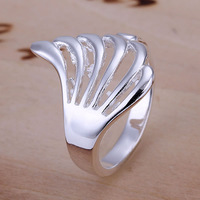 R118 Wholesale 925 silver ring, 925 silver fashion jewelry, Hollow Wing Ring