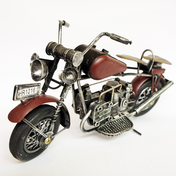 Antique iron motorcycle model home decoration crafts decoration birthday gift(China (Mainland))