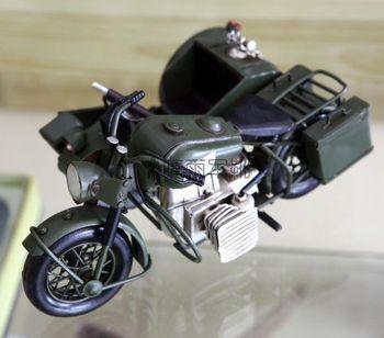 Canducum tricycle metal motorcycle model of world war ii the german army motorcycle 750 cars handmade