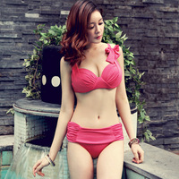 free shipping Hot spring steel push up sexy bikini women's swimwear swimsuit