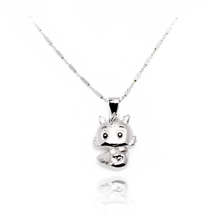 Free shipping Four columns car chain lovers necklace 925 silver(China (Mainland))