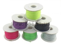 Free Shipping Nylon Cord, mixed color, special for shamballa jewelry making, 54mm, 0.8mm, 10PCs/Lot, Sold by Lot