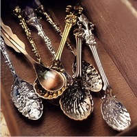 Free ship!24pc!Retro court style coffee tea ice cream spoon
