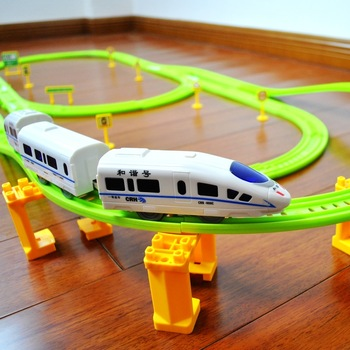 Rail electric train set railroad track toy kids train electric rail way play fun toys childs birthday gifts Free shipping NEW!!!