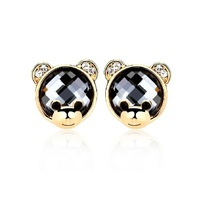 Bear stud earring fashion earrings earring vintage female accessories gift
