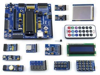 """PIC microcontroller development board PIC PIC18F4520 development board learning board +2.2 """"LCD 12 module"""