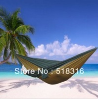 Freeshipping 1pc parachute cloth double hammock tourism camping hammock survival outdoor or indoor 270*140cm