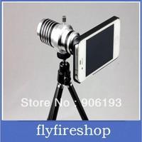 30PCS Free shipping 10X Optical Zoom Aluminum Telescope Telephoto Lens For iPhone 4/4s