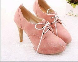 2011 NEW ! Fashion Sweety lace up high heel shoes/ ladies' dress hoes/women's shoes/ FREE SHIPPING for wholesale and retail(China (Mainland))