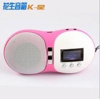 K52 peanut speaker mini card mp3 speaker band fm radio lithium battery