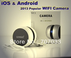 2013 New Tech GOOGO GC1 Wireless WIFI Camera IP Camera webcam Web CCTV Camera Hidden Nanny Camera Concentrate on iOS & Android(China (Mainland))