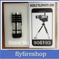 New arrival Aluminum alloy 10X Zoom Optical Lens Phone Telescope Camera Lens for iPhone5