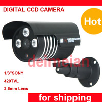 CCTV Security 420TVL Three Array Leds 3.6mm lens Outdoor IR Camera  for CCTV