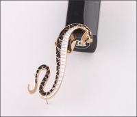 HOT! C081_ snake ear clip 2013 fashion punk style on ear cuffs / ear Cartilage piercing jewelry wholesale FREE SHIPPING