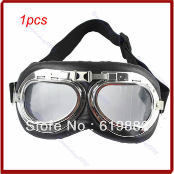 A31 1pcs Motorcycle Scooter ATV Driving Goggles Eyewear Glasses Clear Lens Free Shipping