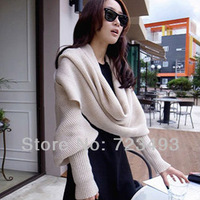 New Fashion Women's Corn kernels Shawl Knitted Wool Neck Cowl Wrap Scarf Warmer Circle With sleeves scarf scarf pendant