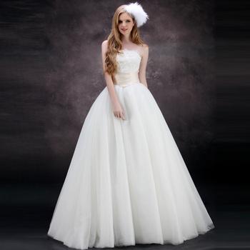 Dora snow new arrival 2013 yarn lace strap tube top skirt wedding dress