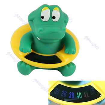 Free Shipping Cute Crocodile Baby Infant Bath Tub Thermometer Water Temperature Tester Toy