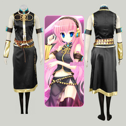 Vocaloid megurine Luka Ruka uniform Cosplay Costume Halloween Dress Japanese Anime Suit Clothes any size(China (Mainland))