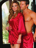 FREE SHIPPING Sexy Lingerie Hot Red Dress+G-string Set Sleepwear, Women Costume Sexy Sleepwear, Available Size M XXL