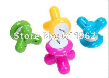 USB Electric Handled Vibrating Multi Color Mini Triangle Body Massager Small Massor ergonomic design Free Shipping