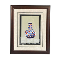 Vase handmade embroidery series unique gift single face decoration birthday gift mural