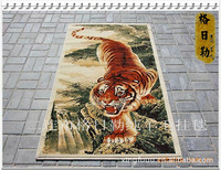100% Pure wool tapestry three-dimensional tiger down 100cm x 150cm