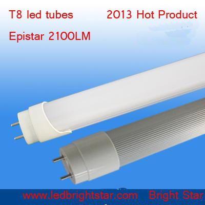 Free Shipping T8 LED Tube 18Watt 1800lm 25pcs/lot Milk PC Cover 48 Inches SMD3014 65 Watt Fluorescent Replacement(China (Mainland))