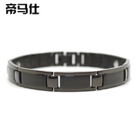 Powerful negative ion energy magnetic male health care bracelet anti fatigue radiation-resistant bracelet the trend of black