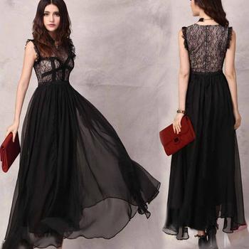 Casual Dresses designer new fashion 2014 white black evening lace dress women see through retro lace sleeveless vest dress QZ156