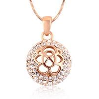Hollow Flower Fancy Pendant Snake Chain Necklace