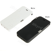 1PCS New External PU Leather Power Pack 2400mAh for iPhone 5 5G E0099
