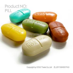 Colorful pill oou kit pvc box capsule large capacity kit
