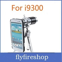 30pcs free shipping 12x Zoom Optical Telescope Mobile Phone Telephoto Lens for Samsung i9300