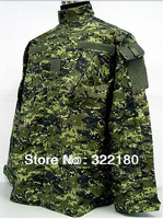 BDU Canada Army Battle Uniform Woodland Digital Camouflage Suit Military Combat Uniform Sets Jacket and Pants 13004