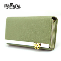 Free shipping 2013 new style wallet female bow long design women's wallet hand bag phone leather  card holder