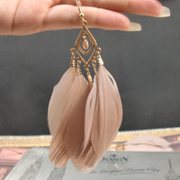 Feather Earrings Large Circle Wing Earrings YE0060