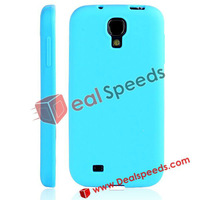 200pcs/lot Freeshipping For Samsung Galaxy S4 i9500 Phone Cover!Pure Color Soft Silicone Phone Cover for Samsung Galaxy S4 i9500