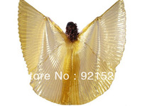 BIG SALE !!!NEW GOLD  Handmade Belly Dance Costume Isis Wings