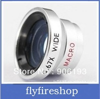 Fish-eye W-67 W67 Wide Lens with 0.67x Magnification for phone and cameras wide angle lens Macro lens free shippig 30pcs/lot