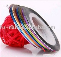 Free shipping 10 different  Color Rolls Striping Tape Metallic Yarn Line Nail Art Decoration Sticker