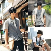 New spring clothing tank tops men xl mens suit vest scarf cultivate one's morality fashion casual men's vest D172