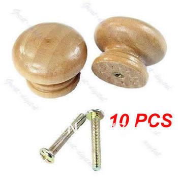 Free Shipping 10pcs/lot Wood Cabinet Drawer Knob Kitchen Plain Pull Handle Door Wardrobe Hardware