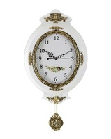 Cheap Home Decorative Wall Clock Large Round Wall Clock Metal Brassed  Vintage Style