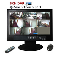 15.6 Inch Touch LCD Monitor 8CH H.264 Standalone Network CCTV DVR Kit