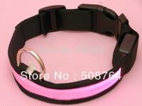 Glow LED Cat Dog Pet Flashing Light Up Safety Collar Luminous LED Dog Collar 6 colors size S M L XL free shipping