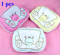 Free Shipping Baby Boys Girls Support Shape Soft Cotton Prevent Flat Head Pillow Cushion Pad